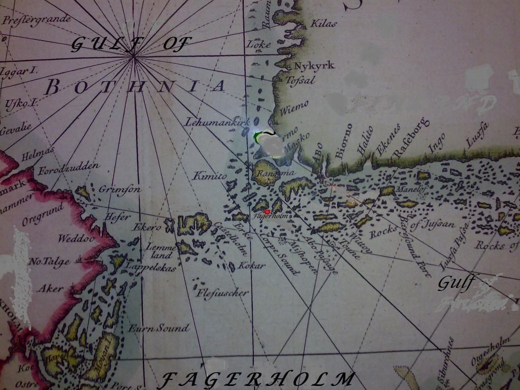 Karta gammal - Fagerholm utan FI-SWE