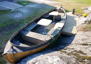 Båt-terass på Fagerholm